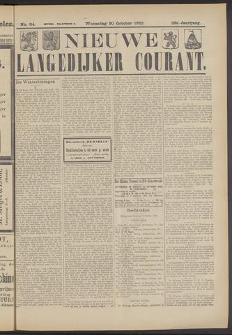 Nieuwe Langedijker Courant 1920-10-20