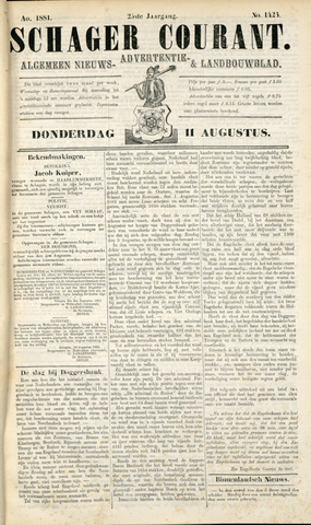 Schager Courant 1881-08-11