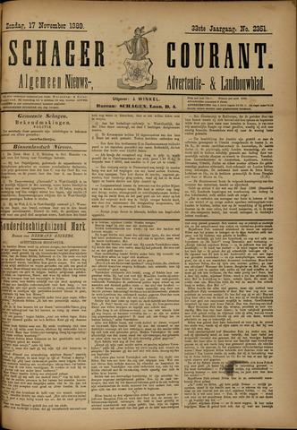 Schager Courant 1889-11-17