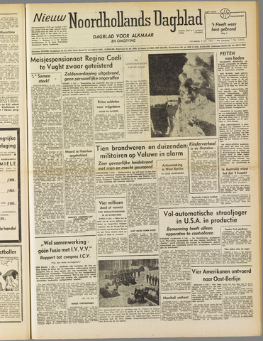 Nieuw Noordhollandsch Dagblad : voor Alkmaar en omgeving 1952-07-03