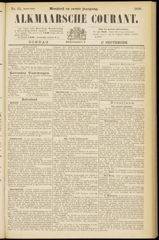 Alkmaarsche Courant 1899-09-17
