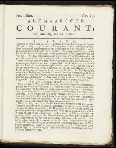 Alkmaarsche Courant 1802-03-29