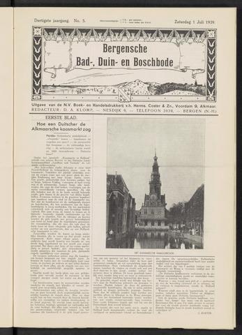 Bergensche bad-, duin- en boschbode 1939-07-01