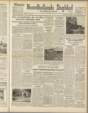 Nieuw Noordhollandsch Dagblad : voor Alkmaar en omgeving 1947-10-01