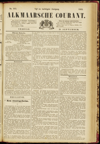 Alkmaarsche Courant 1883-09-28