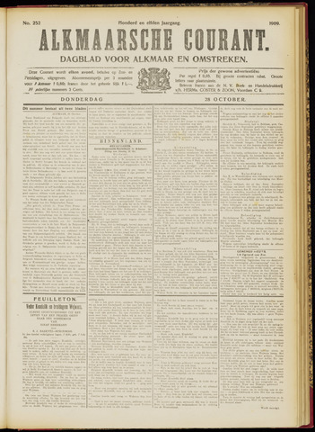 Alkmaarsche Courant 1909-10-28