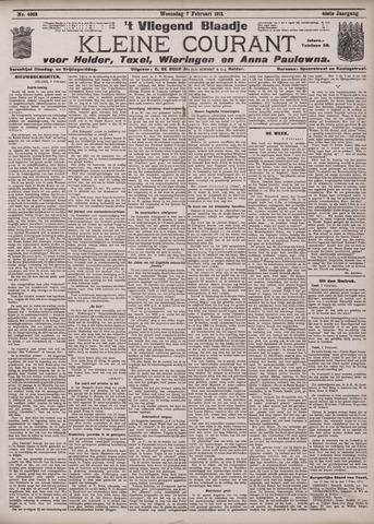 Vliegend blaadje : nieuws- en advertentiebode voor Den Helder 1912-02-07