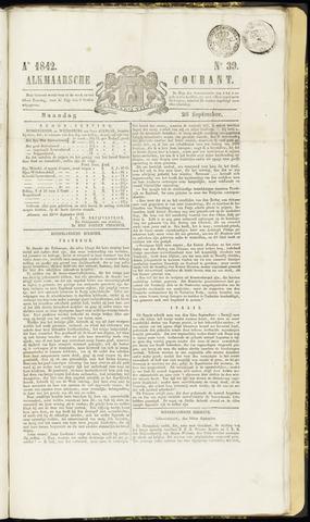 Alkmaarsche Courant 1842-09-26