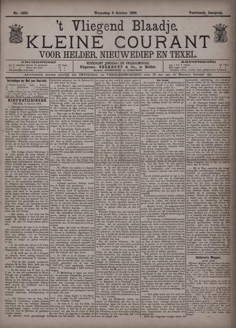 Vliegend blaadje : nieuws- en advertentiebode voor Den Helder 1886-10-06