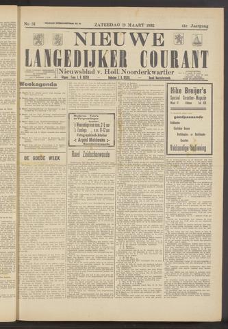 Nieuwe Langedijker Courant 1932-03-19