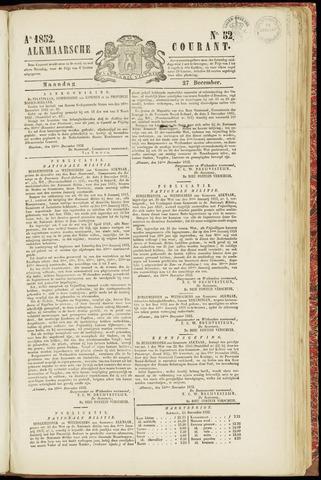 Alkmaarsche Courant 1852-12-27