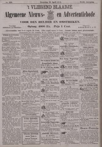 Vliegend blaadje : nieuws- en advertentiebode voor Den Helder 1875-04-24