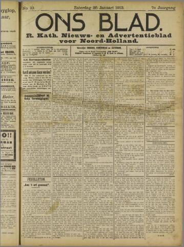 Ons Blad : katholiek nieuwsblad voor N-H 1913-01-25