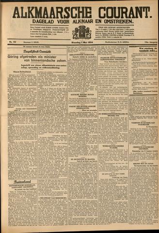 Alkmaarsche Courant 1934-05-01