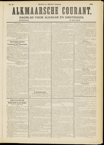 Alkmaarsche Courant 1913-03-25
