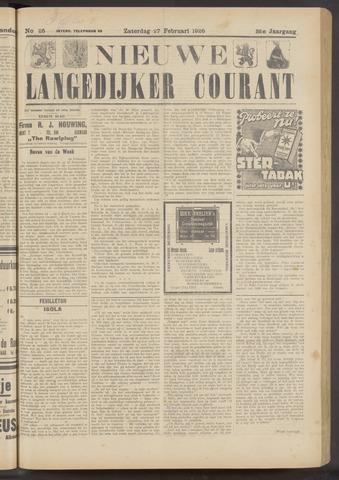 Nieuwe Langedijker Courant 1926-02-27