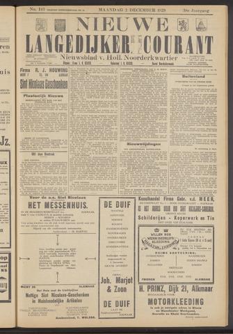 Nieuwe Langedijker Courant 1929-12-02