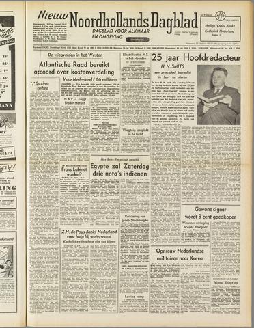 Nieuw Noordhollandsch Dagblad : voor Alkmaar en omgeving 1952-02-27