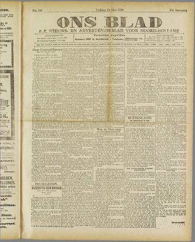 Ons Blad : katholiek nieuwsblad voor N-H 1920-05-14