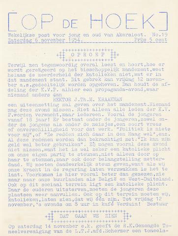 Op De Hoek, weekblad voor Akersloot 1954-11-06