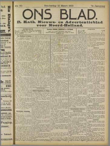 Ons Blad : katholiek nieuwsblad voor N-H 1913-03-13