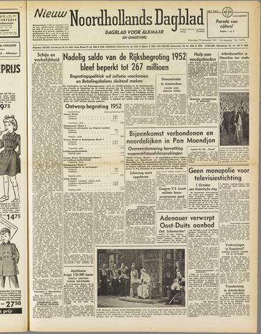 Nieuw Noordhollandsch Dagblad : voor Alkmaar en omgeving 1951-09-19