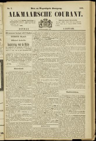 Alkmaarsche Courant 1891-01-04