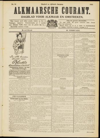 Alkmaarsche Courant 1913-02-10