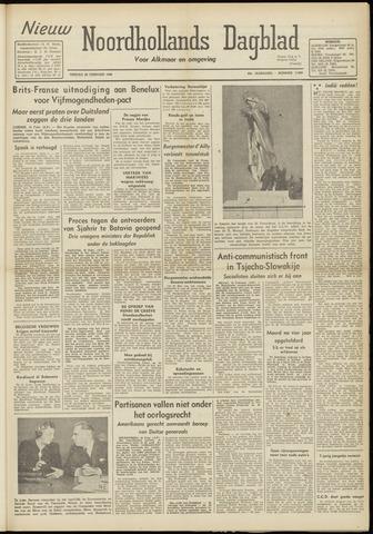 Nieuw Noordhollandsch Dagblad : voor Alkmaar en omgeving 1948-02-20