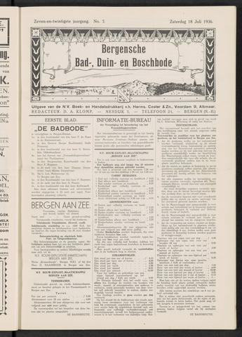 Bergensche bad-, duin- en boschbode 1936-07-18