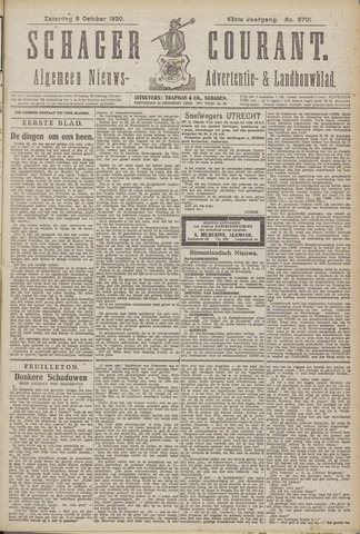 Schager Courant 1920-10-09
