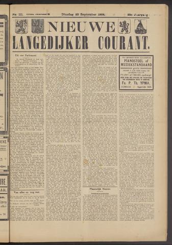 Nieuwe Langedijker Courant 1924-09-23