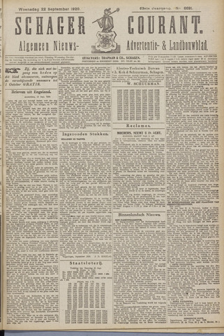 Schager Courant 1920-09-22