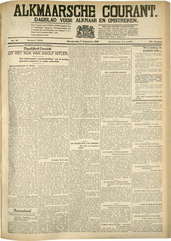 Alkmaarsche Courant 1933-08-03