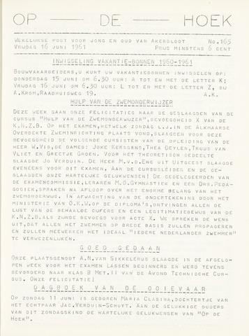 Op De Hoek, weekblad voor Akersloot 1961-06-16