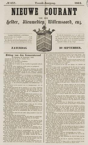Nieuwe Courant van Den Helder 1862-09-20