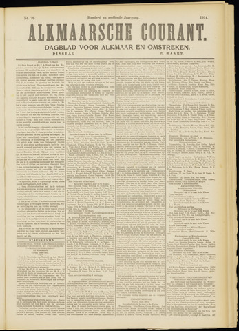 Alkmaarsche Courant 1914-03-31