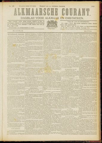 Alkmaarsche Courant 1919-07-14