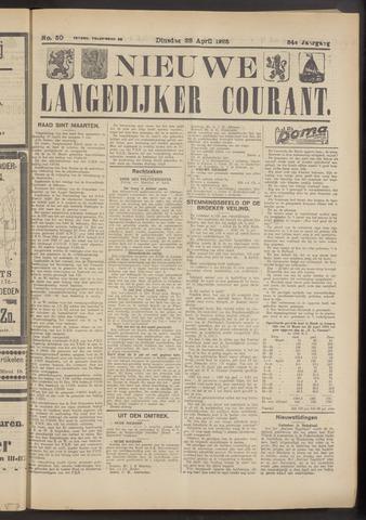 Nieuwe Langedijker Courant 1925-04-28