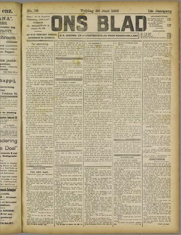 Ons Blad : katholiek nieuwsblad voor N-H 1918-06-28