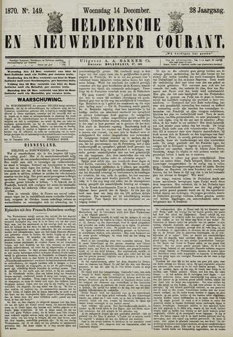 Heldersche en Nieuwedieper Courant 1870-12-14