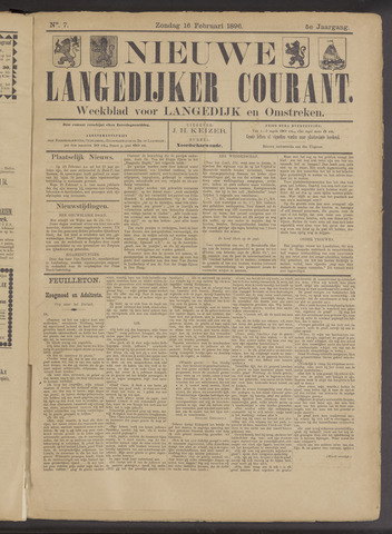 Nieuwe Langedijker Courant 1896-02-16
