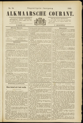 Alkmaarsche Courant 1888-08-03