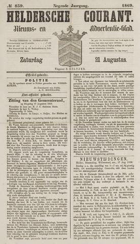 Heldersche Courant 1869-08-21
