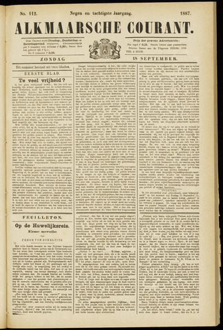 Alkmaarsche Courant 1887-09-18
