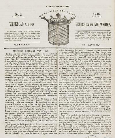 Weekblad van Den Helder en het Nieuwediep 1846-01-12