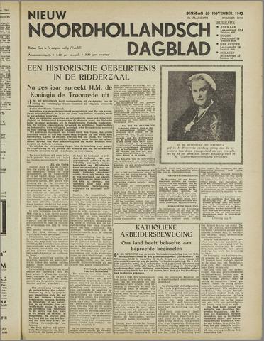 Nieuw Noordhollandsch Dagblad : voor Alkmaar en omgeving 1945-11-20