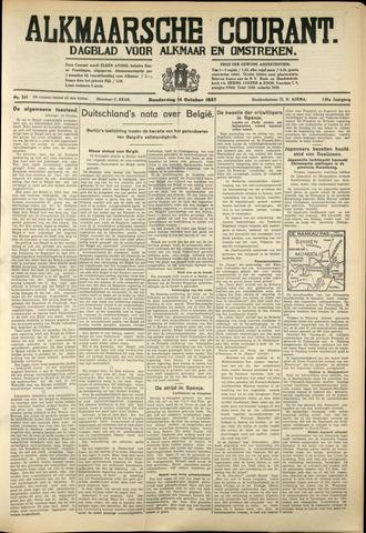 Alkmaarsche Courant 1937-10-14