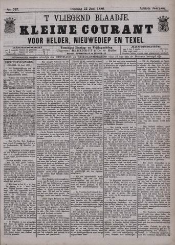 Vliegend blaadje : nieuws- en advertentiebode voor Den Helder 1880-06-22