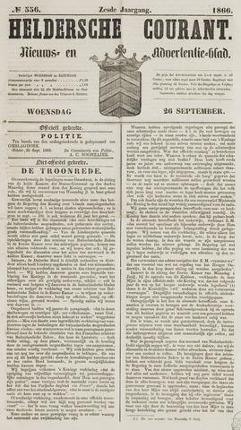 Heldersche Courant 1866-09-26